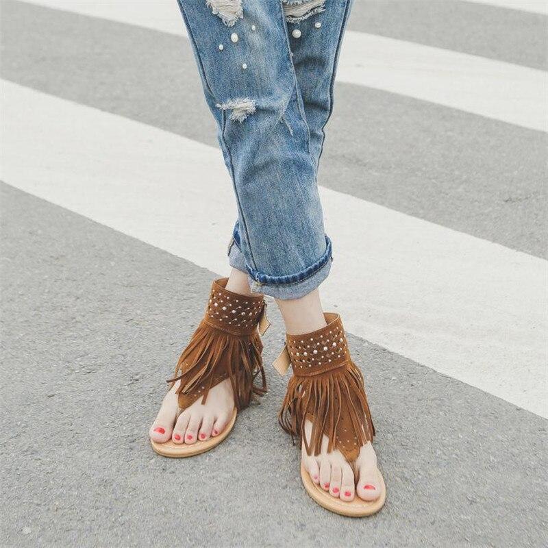 04883e2f93 Flops Plana Tamaño 35 Sandalias Verano gris Mujer Bohemia marrón Mujeres  Negro Playa 43 Grande Flor Zapatos ~ Borla Flip qzxwX0PO