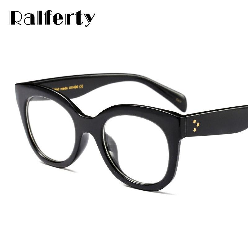 92d980748da Ralferty Vintage Glasses Transparent Clear Women Eyeglass Frame Cat  Prescription Optical Frames Retro Eyewear Spectacles F92116-in Eyewear  Frames from ...