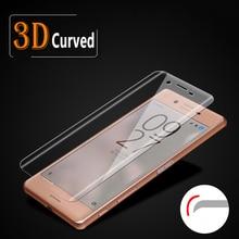 3D מלא מסך כיסוי זכוכית מחוסמת עבור Xperia X ביצועים עבור Sony Xperia XA מסך מגן מלא מכוסה מגן סרט