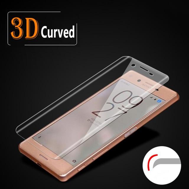 Proteção de tela em vidro temperado para xperia x, protetor de tela coberto total