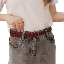 New Women Genuine leather belt Fashion Braided thin belts waist straps high quality cow skin women's Jeans waistband