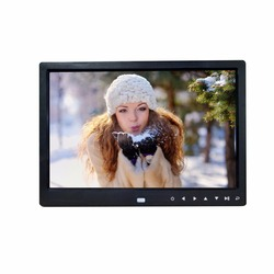 New design 12 inch seven touch buttons infront digital photo frame play picture video calendar support 1080P electronic album