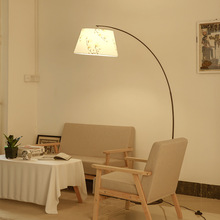 Nordic Art Fabric Iron Shade Simple Floor Lamp Led E27 Lighting Kitchen Fixture Room Bedroom Living Study Luminaire