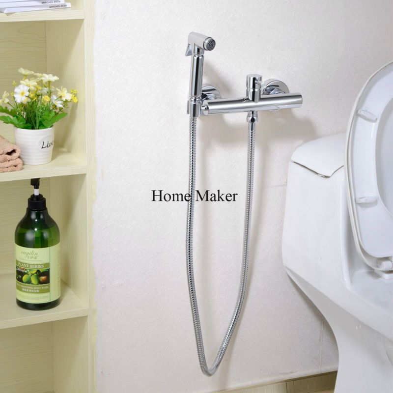 Toilet Bidet Sprayer Kit With Hot And Cold Water Mixer Valve Anal