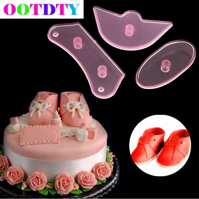 3 Teile Satz Baby Schuhe Geburtstag Kuchen Dekorieren Form Cutter