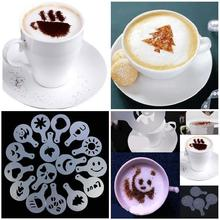 16Pcs/Set Coffee Drawing Molds Printing Model Sprinkle Powder Mats