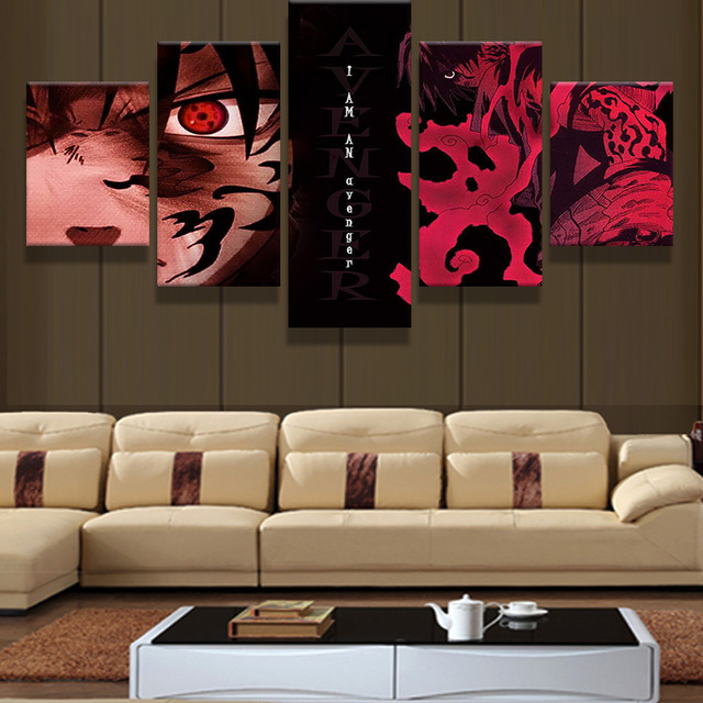 5 PIECES NARUTO WALL POSTER