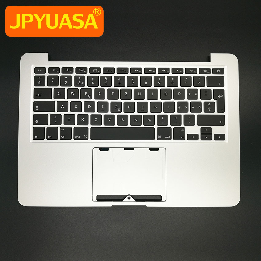 New A1502 Topcase For Macbook Pro Retina 13 A1502 Palmrest Top Case Housing With Switzerland Keyboard
