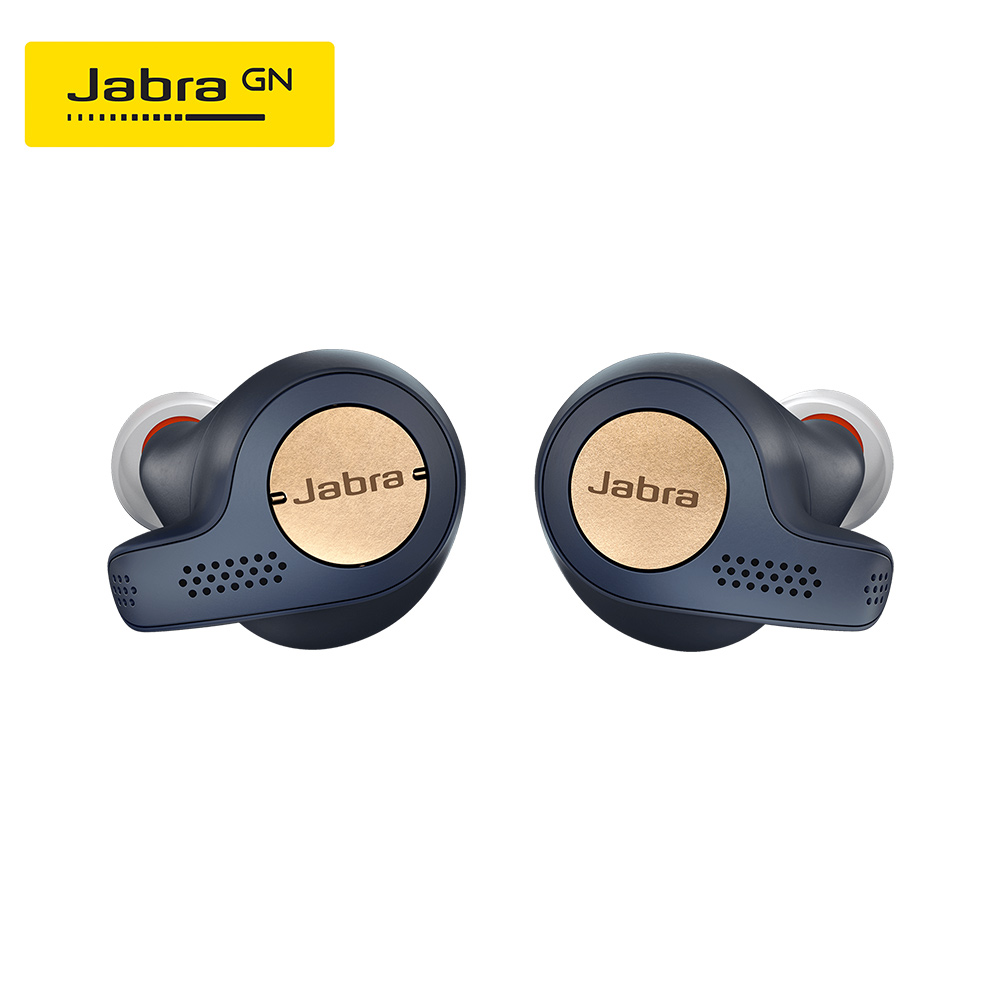 Jabra Elite Active 65t Alexa Enabled True Wireless Sports Earbuds with Charging Case Copper Blue