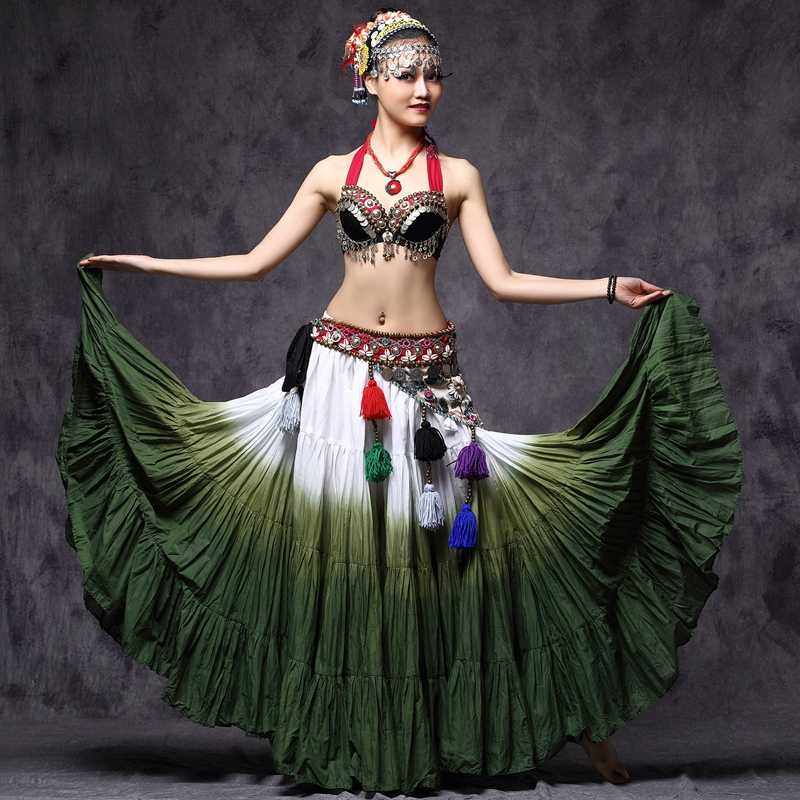 360 Degree Skirts Cotton ATS Flamenco Clothing Cotton Long Full Circle Gypsy Dance Tribal Belly Dance Skirt