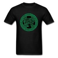 Latest Stylish Polar Bear Print Men T Shirt Cool Teams Black Tee Shirts Tribal Green Pattern