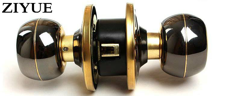 Free Shipping Steel Gold and Black Copper Core Ball Lock Indoor Wooden Door Spherical Lock ceramic lock the door when indoor european ball lock hold hand lock copper core s 026
