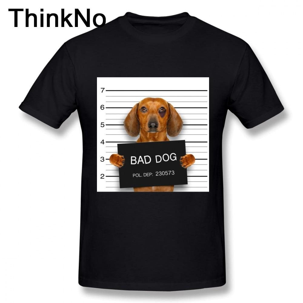 0db5ee73 Funny Dachshund Mugshot Tee Round Neck 3D Print Men's Retro 100% Cotton  S-6XL T Shirt