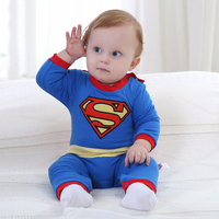 New Born Baby Boy Clothes Superman Style Baby Boy Jumpsuits With Cloak Long Sleeve Autumn Baby