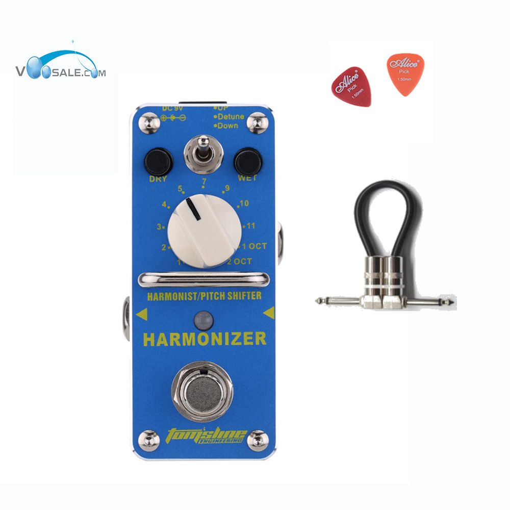 AHAR-3 Harmonizer Harmonist Pitch Shifter Electric Guitar Effect Pedal Aroma Mini Size True Bypass Aluminium Alloy+ Free Cable sews aroma aov 3 ocean verb digital reverb electric guitar effect pedal mini single effect with true bypass