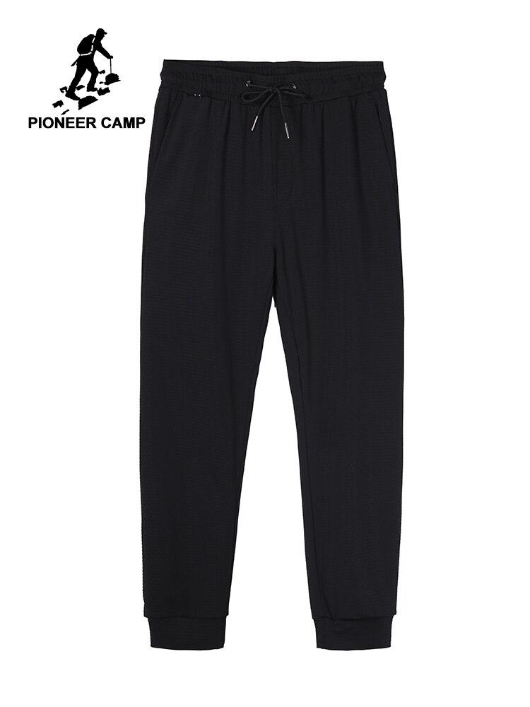 Pioneer obóz cienkie letnie spodnie na co dzień mężczyźni wygodne czarne Regular Fit spodnie mężczyzna Mesh oddychające spodnie dla mężczyzn AZZ901220 w Obcisłe spodnie od Odzież męska na AliExpress - 11.11_Double 11Singles' Day 1