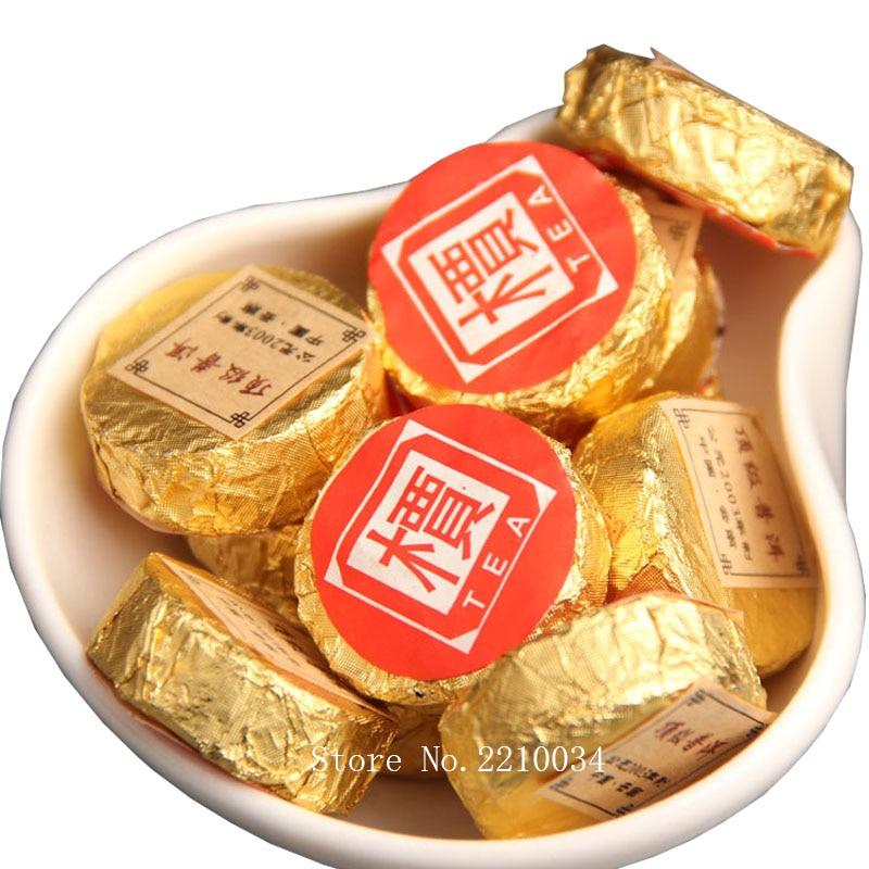2003 Year Yunnan Menghai Premium Ripe Pu'er 500g Mini Gold Cake Tea,Chinese Green Food Sweet Shu Puerh Cha Shou Pu'Er Te Pu Erh