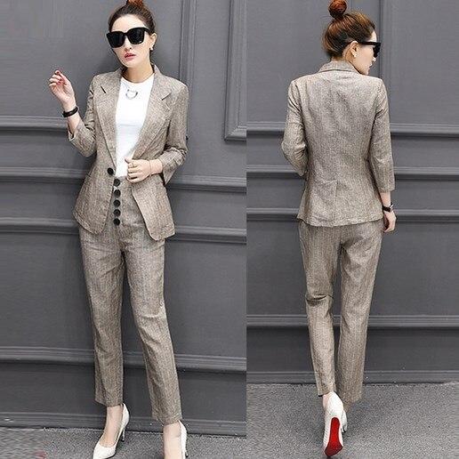 Buro Uniform Style Zweiteiliges Blazer Set Weibliche Business