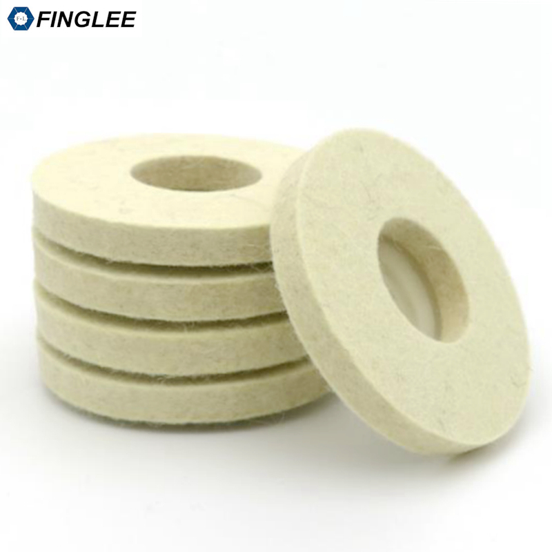 FINGLEE 4 Inch 12mm height wool felt polishing wheel Angle Grinder buffing Felt Polishing Disc for Rotary Tool Abrasive Grinding 100 110 19mm wool polishing grinding buffing wheel grinder brushes for drill rotary tool