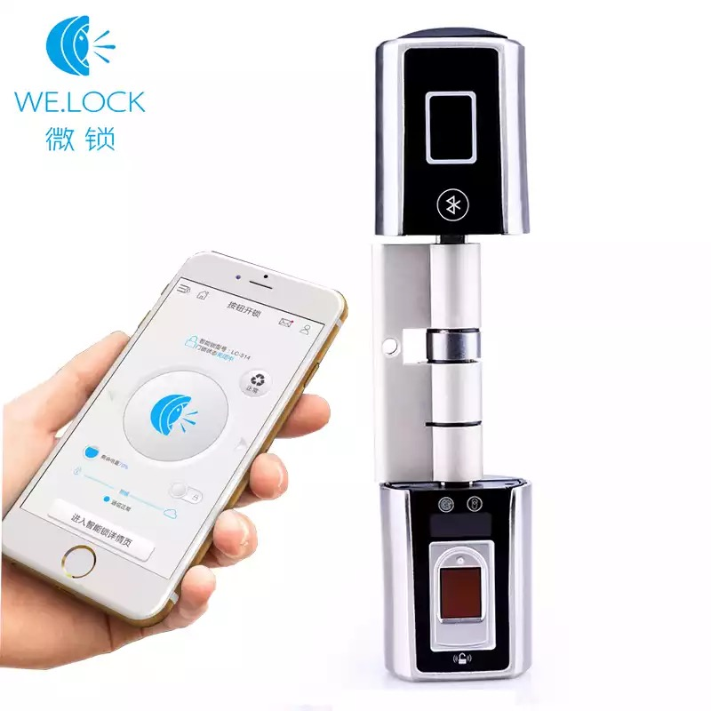L5SR-Plus WELOCK Bluetooth Intelligente Serratura Elettronica Cilindro Esterno Impermeabile Scanner Biometrico di Impronte Digitali Serrature senza chiave