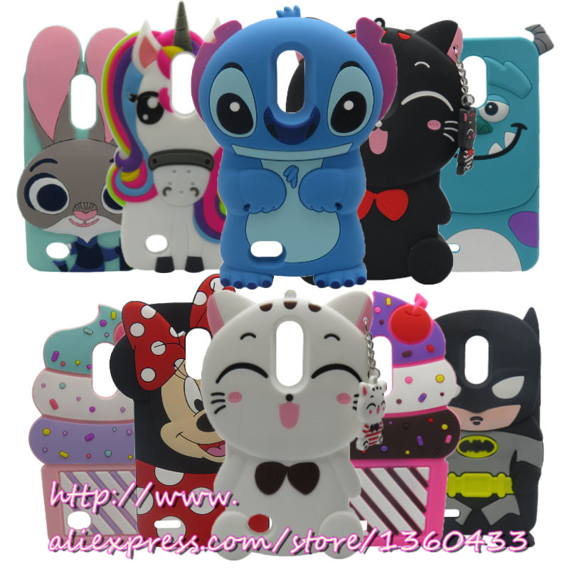 For LG K10 2017 Phone Case 3D Cartoon Stitch Minnie Cat Silicon Rubber Phone Back Case Cover for LG K10 2017 M250M K20 Plus LV5