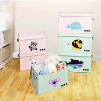 1pc Lion Rabbit Household Portable Box Organizer Storage Box For Clothes Book Toy Packing Makeup Underwear