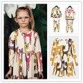 INS hot 2017 primavera verano ropa de bebé niña NIÑOS ciervos ropa conjuntos kikikids pijama establece niñas vestidos niños ropa vetement