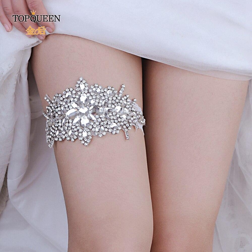 TOPQUEEN THS01 Lady Lingerie Garter Stocking Lace Garter Belt Legs Ring Harness Women Flower Belt Wedding Garter Bridal Girl