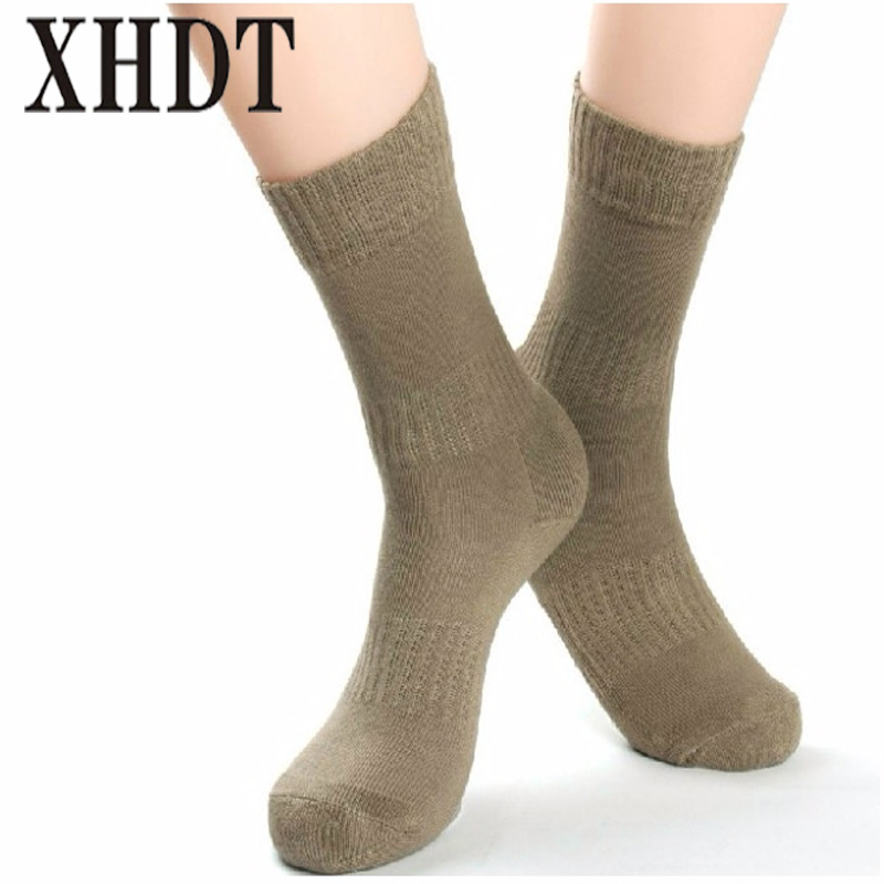 Men knee-high cotton keep warm thickening breathable cold-proof terry cushioned running military army outdoor sports socks