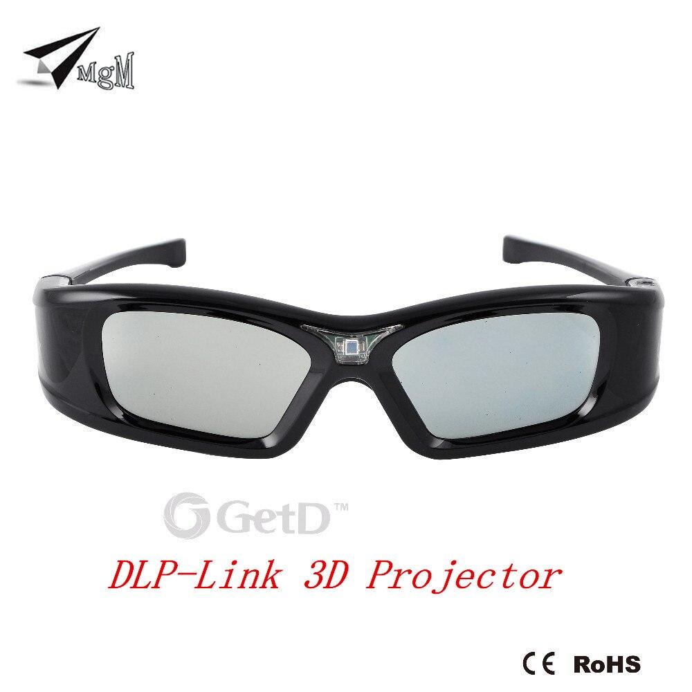 Оригинальный Универсальный Активный затвор 3D очки перезаряжаемый DLP проектор 96-144 Гц для Philips BenQ acer XGIMI все DLP домашний кинотеатр