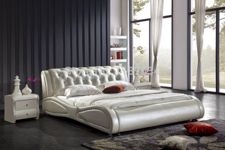 Large king size soft bed PU+PVC leather soft bed C355 smoby детская горка king size цвет красный