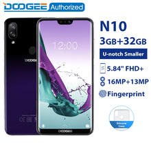 DOOGEE N10 3GB 32GB mobile Phone Android 8.1 Octa Core 5.84» FHD+ 19:9 Display 16.0MP Front Camera 3360mAh 4G LTE Smartphone