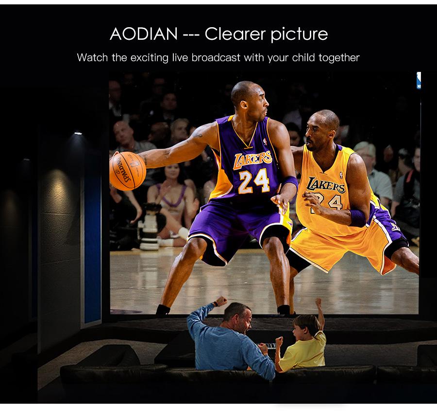 AODIAN AODIN 3D HD Mini projector DLP support 1080P video 8G pico pocket projector for home theater HDMI smart led portable projectors-27