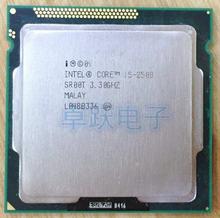 Frete grátis original intel i5 2500 processador quad-core 3.3 ghz lga 1155 tdp 95 w 6 mb cache i5-2500
