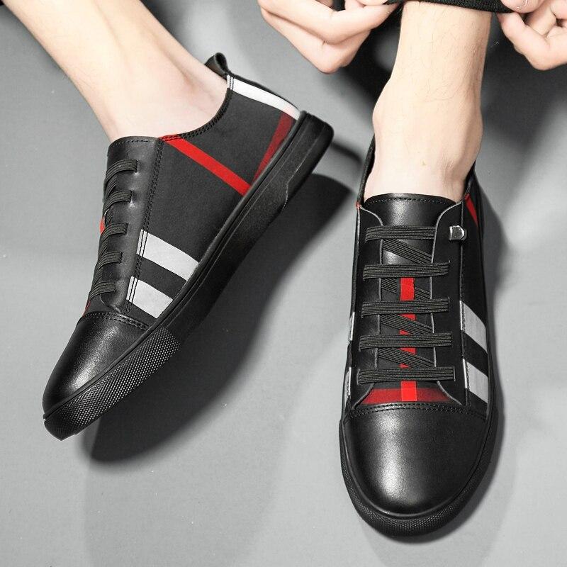 2019 Correr Yt1903 37 Dos Casuais Ar Ao Desporto Black Livre white De 46 Sapatos Respirável Caminhada Genuíno Couro Xadrez Mulheres Para Homens Sneakers rOxtRrSwq