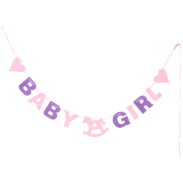 cute love blue pink baby shower 2 88m baby boy girl felt banner