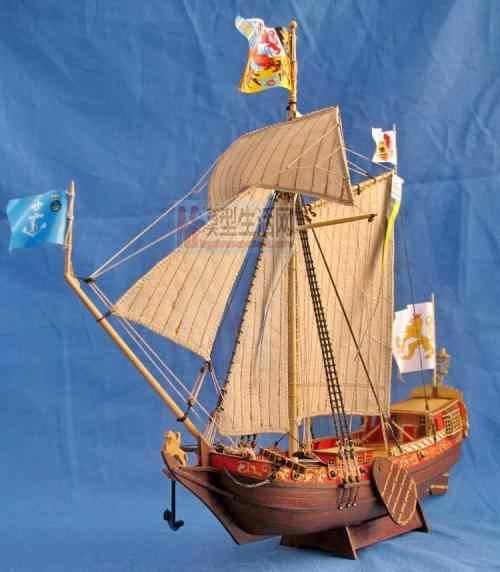 Hobby Ship model kits 1/80 Royal Holland yacht model Free 2 pcs Wooden barrel Include English instruction