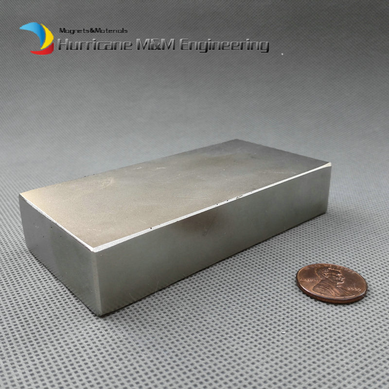 1 piece 221kg Pulling Force N52 NdFeB Block 100x50x20 mm Strong Neodymium Permanent Magnets Rare Earth Industry Magnet