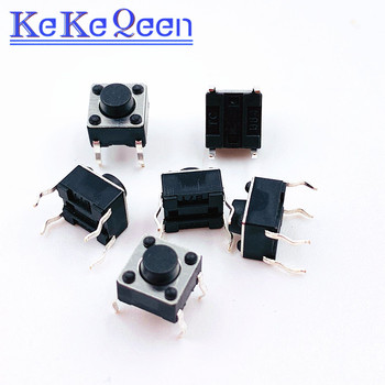 10PCS-100PCS 6*6*5MM 6X6X5MM DIP-4 4P Push Button Switches Tact Tactile Switches Micro Switch image