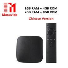XiaoMi Mi tv box 3 Wi-Fi Smart S905 64bit Quad Core 1 ГБ DDR3 Android 5.0 Smart 4 K HD TV Box Оригинал Xiaomi Mi 3C TV Box