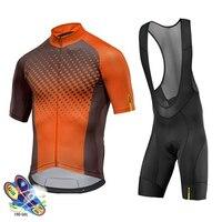 Mavic 2019 Pro Cycling Team Summer clothes Man Short Sleeve Cycling Jerseys Bib Shorts Suit Triathlon Clothing Cycling Jersey
