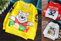 A variety of color cotton long-sleeved T-shirt children cute animal cartoon candy-colored T-shirt Kids bottoming