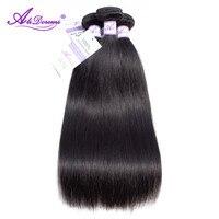 Alidoremi индийский Волосы remy прямые волосы пучки 8 28 inch 100% человеческих волос Weave волос Бесплатная доставка натуральный Цвет