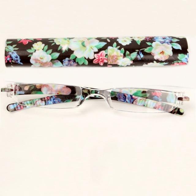 Women Flower Fashion Colors Unbreakable Presbyopia Reading Glasses 1.0 1.5 2.0 to 4.0 Ultralight Plastic Eyeglasses 008