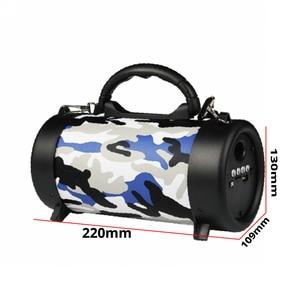 Image 5 - Hifi Bluetooth Speaker Wireless column MP3 Music Audio USB FM radio Loudspeaker Stereo Sound box outdoor Speaker For xiaomi+mic