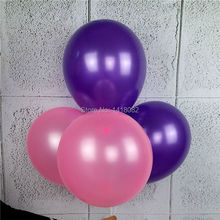 100 pcs/lot 12 inch 2.8g Latex balloon Helium Round balloons Thick Pearl purple pink  party wedding decoration