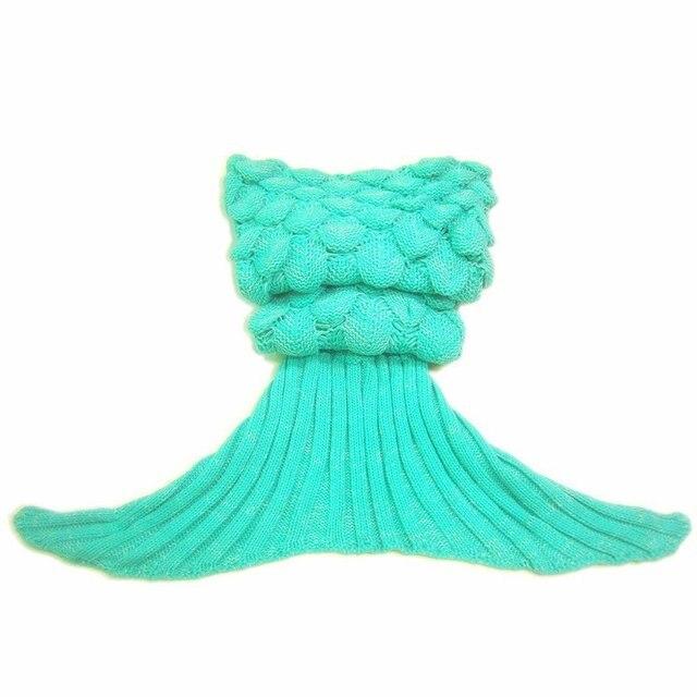 Creative Colorful Mermaid Tail Soft Blanket 5