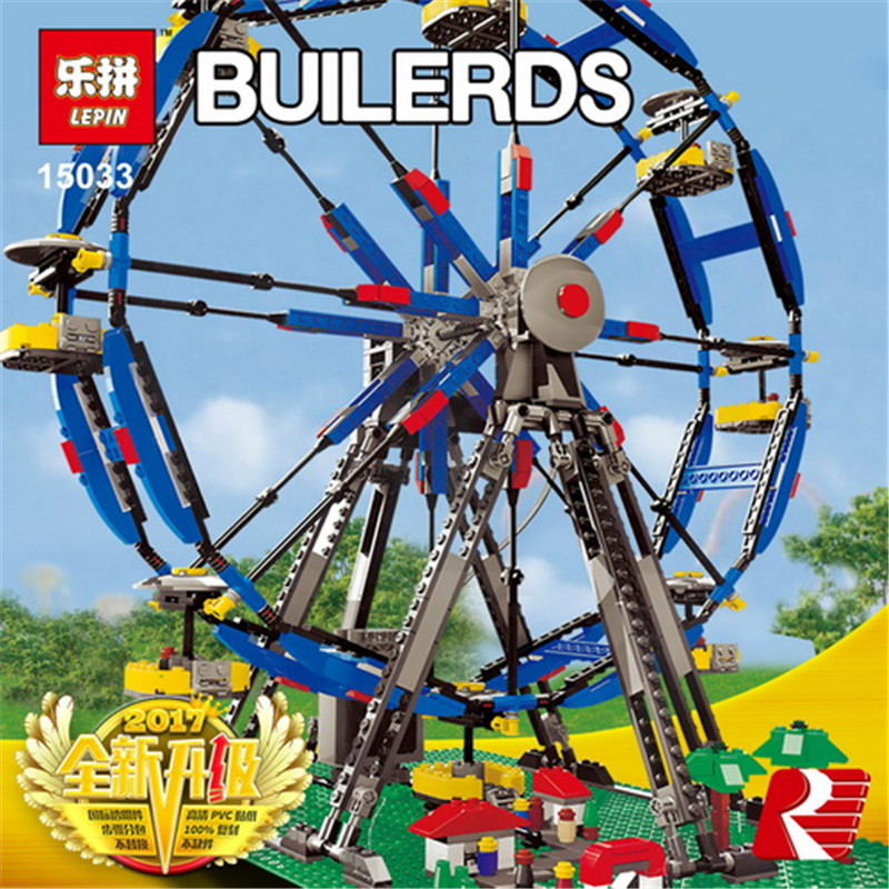 Lepin 15033 Genuine Building Series 1170Pcs The Three-in-One Electric Ferris Wheel Set Building Blocks Bricks Toys Model 10247 15033 1170pcs building classic series the three in one electric ferris wheel set building blocks compatible with 4957 toy lepin