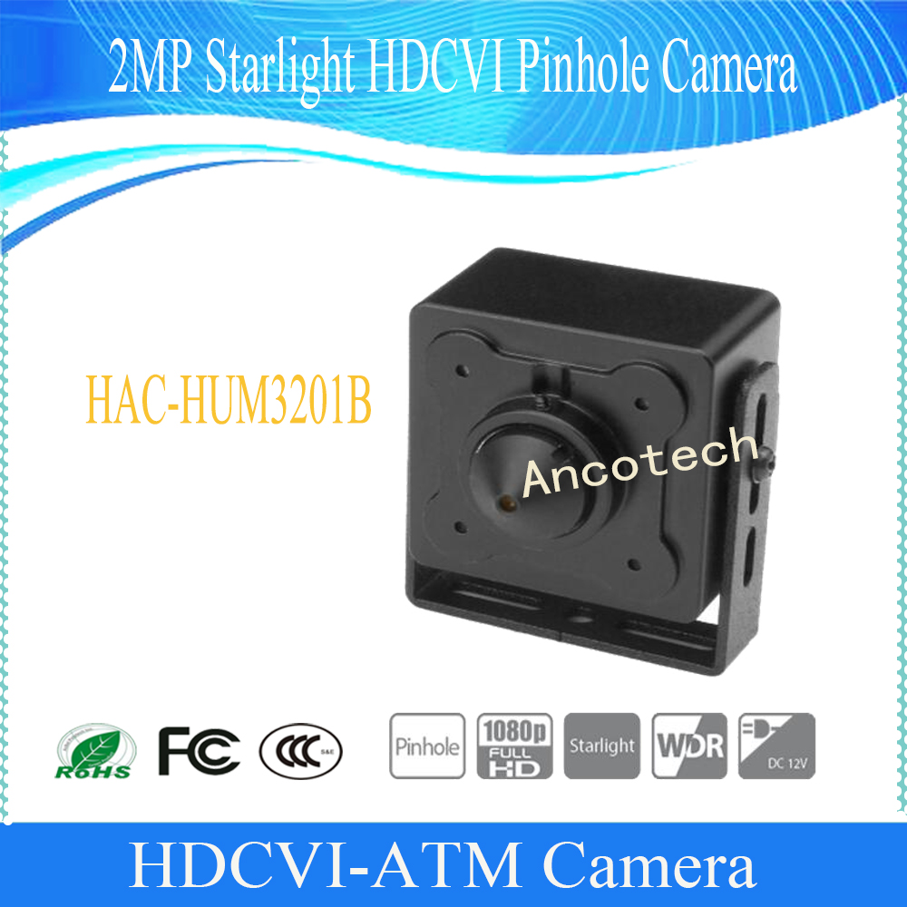 Free Shipping DAHUA CCTV Mini Camera ATM Camera 2MP Starlight HDCVI Pinhole Camera without Logo HAC-HUM3201B