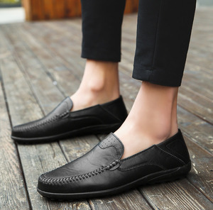 Image 5 - Summer Men Shoes Casual Luxury Brand 2019 Genuine Leather Mens Loafers Moccasins Italian Breathable Slip on Boat Shoes JKPUDUN